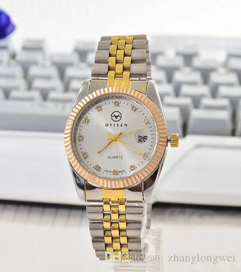 relogio masculino mens watches Luxury dress designer fashion Black Dial Calendar gold Bracelet Folding Clasp Master Male 2019 gifts couples