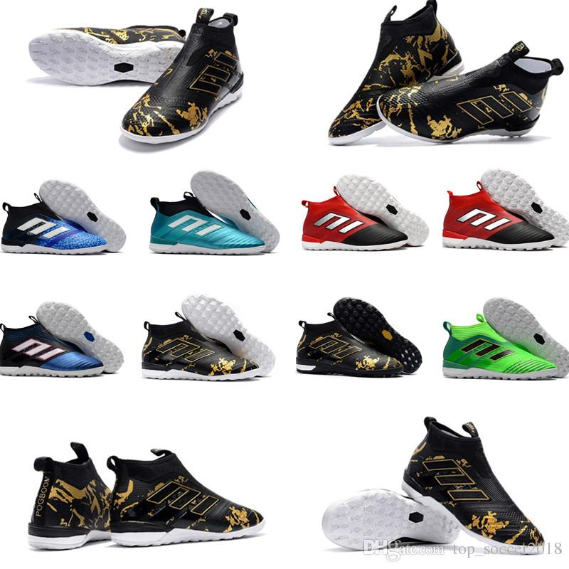 2019 White Gold Indoor Soccer Cleats 100% Original ACE Tango 17+ TF IC  Purecontrol Soccer Shoes Original Messi Indoor Football Boots From  Top soccer2018 40f7f36b3