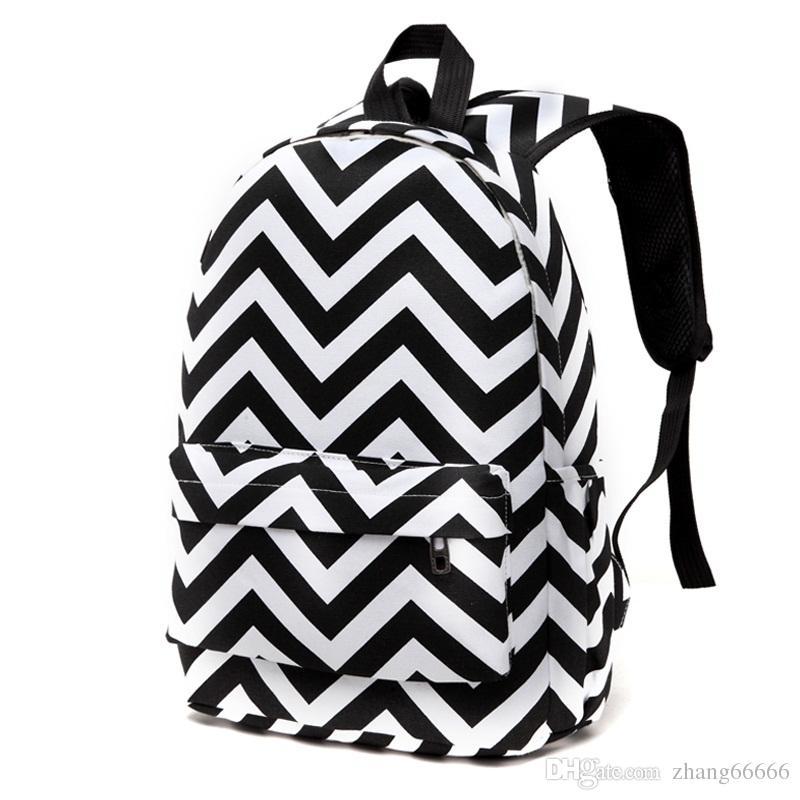 Designer Striped Zipper Canvas Backpack Teen Girls School Bags Large Travel  Laptop Female Backpacks Mochilas Women Gregory Backpacks Army Backpack From  ... fb2072b90e