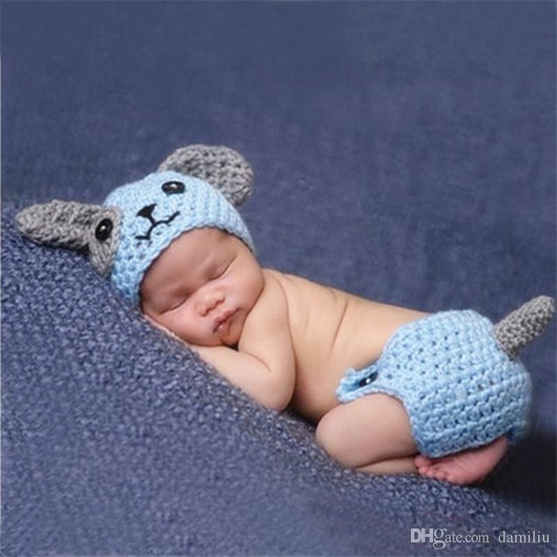 2018 Cute Puppy Dog Newborn Baby Boys Photography Props ...