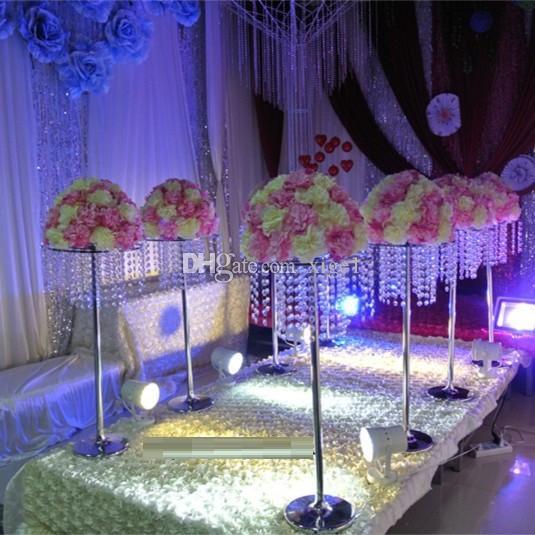 Бесплатная доставка Акриловые Кристалл Свадьба ведет высота дороги - 32