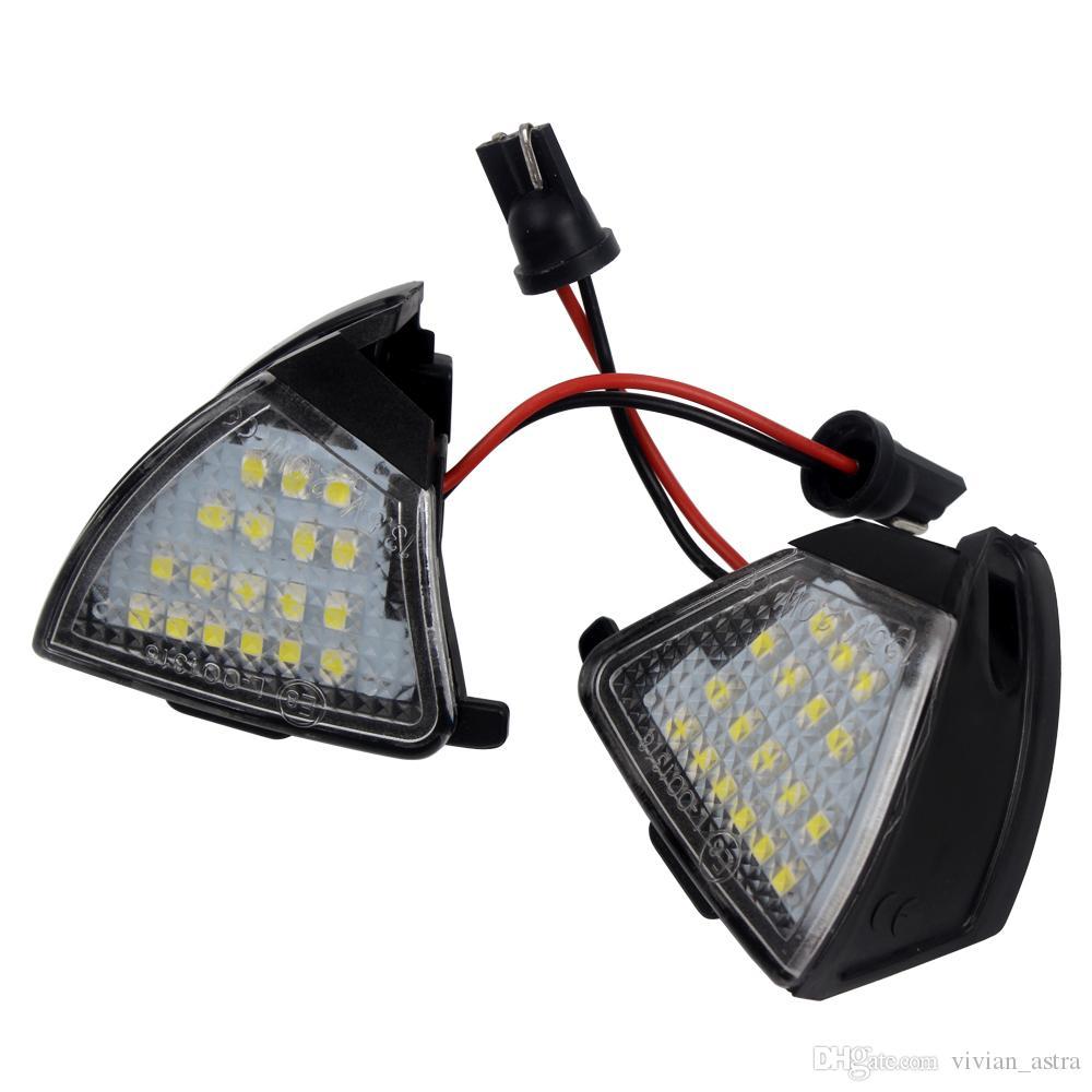 2 Unids más nuevo 2017 LED Side Charco Puddle Lights No Error para Vw Golf 5 Mk5 MkV Passat b6 Jetta Eos