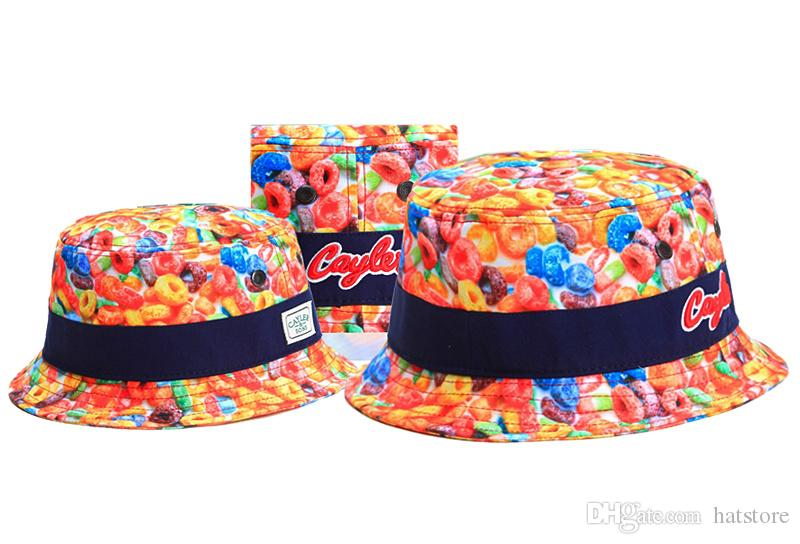Colorful Cayler & Sons Bucket Caps Fashion Street Hip Hop Fisherman Caps Sports Snapback Hats Designer Baseball Caps TYMY 39