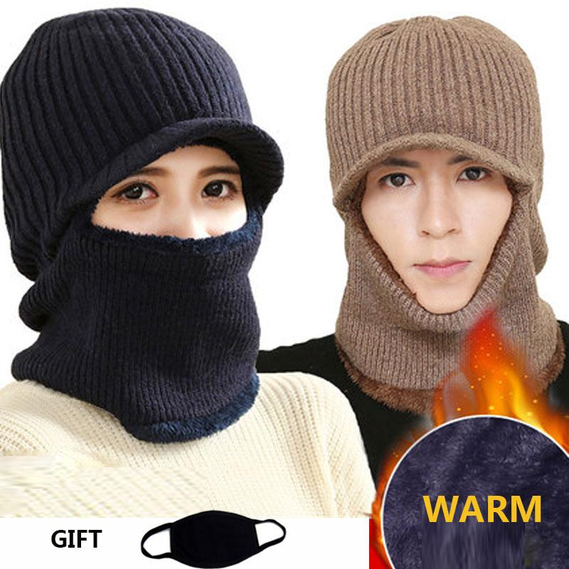 7b380aae582 Skull Mask Balaclava Face Mask Winter Hats For Women Men Knitted Cap Neck  Warmer Caps Winter Hats For Men Women Beanie Fur Warm Hats Bucket Hats From  Cascoo ...