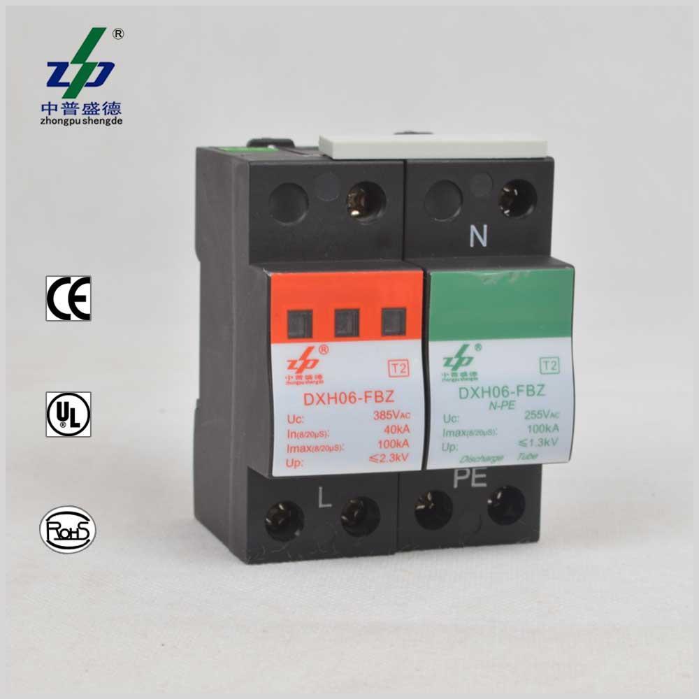 Ce Ac 100ka 220v Class I Single Phase N Pe Surge Protection Device Circuit Breaker Electronics Accessories Security Door Equipment From Zhongpushengde 5528