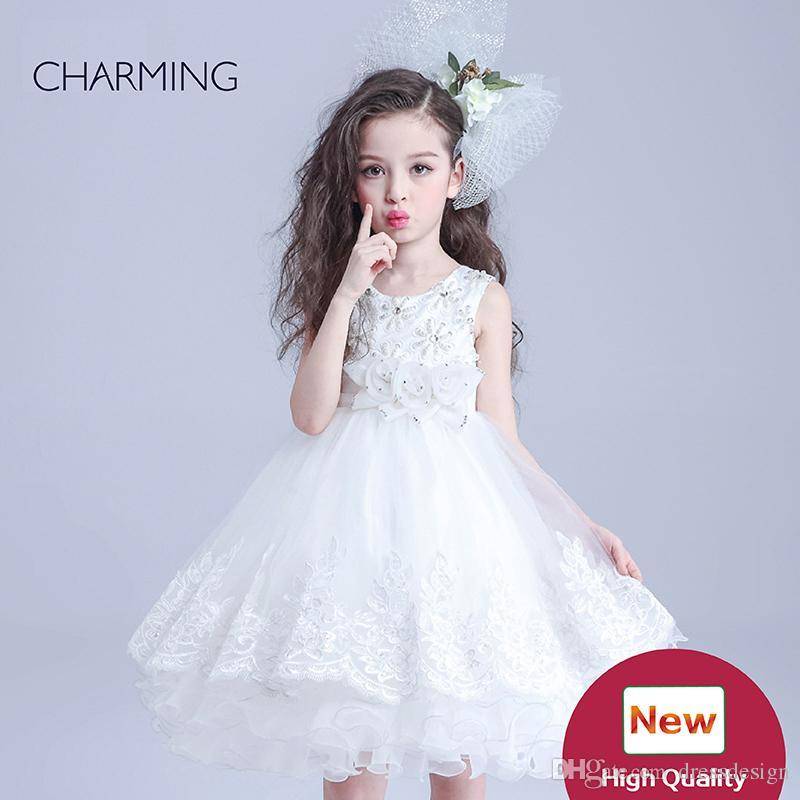 Childrens White Dress Flower Dresses Girls And Birthday Dress Girl ...