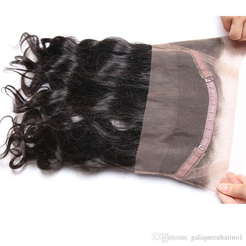 360 Lace Frontals Closures Body Wave Human Hair 22*4*2 Lace Frontals With Baby Hair Natural Hairline Adjustable Strap No Shedding No tangle