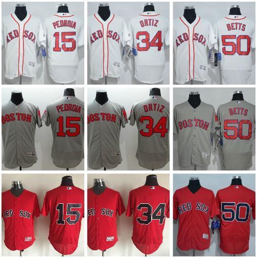 fa6fe2b045f ... 2017 50 Mookie Betts 34 David Ortiz 15 Dustin Pedroia Authentic Jersey  Cheap MenS 34 Majestic 2017 Boston Red Sox ...