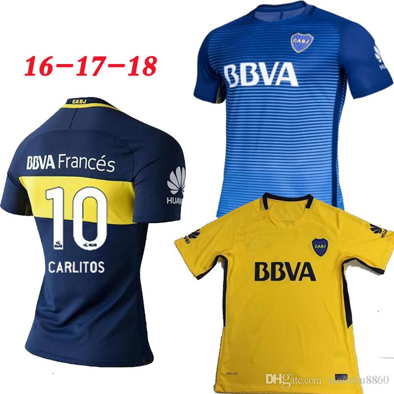 ... Thai Quality 2017 2018 Boca Juniors Home Away 3RD Soccer Jersey 17 18  GAGO OSVALDO CARLITOS ... 29b82b5782889