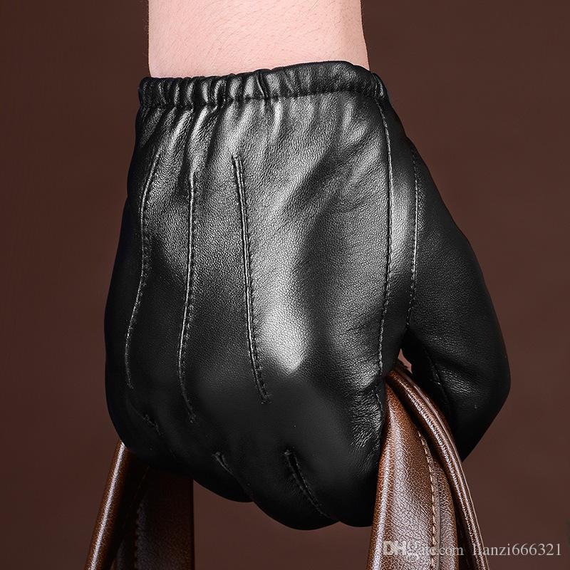 Heiße neue Männer Polizei taktische Lederhandschuhe schwarz Tops Größe M / L / XL besten Preis K144