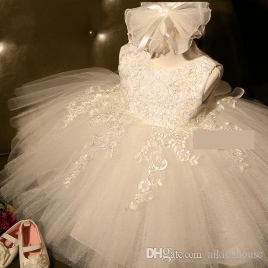Retail Hot sale pink lovely baby girls party dress kids white fluffy tutu wedding dresses red children girls performance dress
