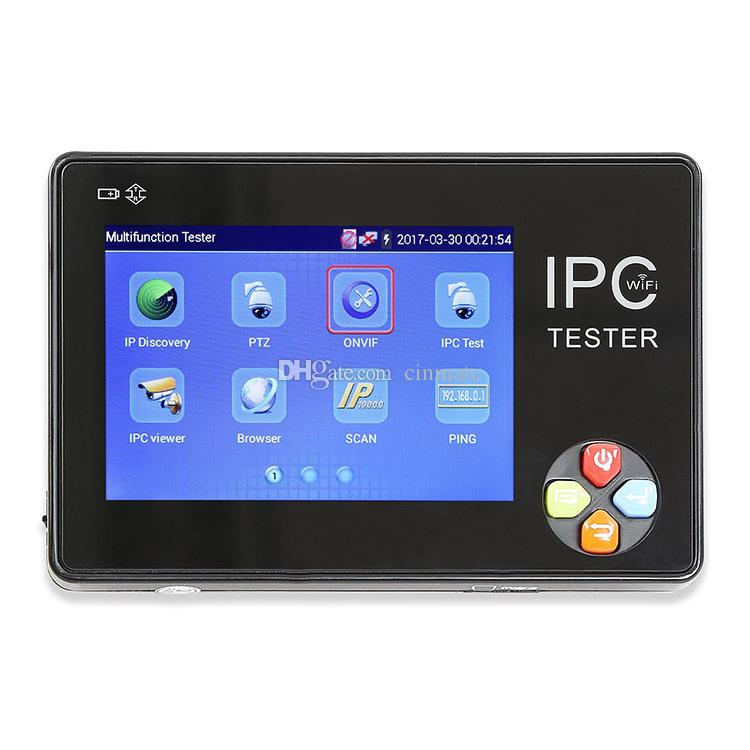 Portable 3.5 Inch TFT-LCD Touch Screen Wrist Multifunction IP Camera CCTV Tester Support ONVIF PTZ WIFI IPC-1600