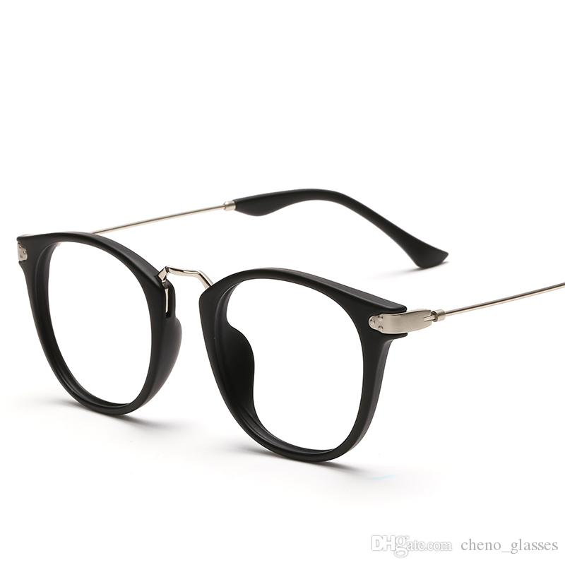 2018 Vintage Extra Light Optical Frame Women Men\'S Tr90 Alloy Clear ...