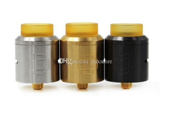 Melhor Druga RDA Rebuidable Atomizador 24mm de diâmetro Braçadeira Snag System Design 510 Fio PEI Wide Furo Drip Tip DHL Livre