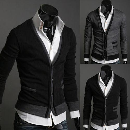 2018 2017 New Autumn Mens Sweaters Male V Neck Winter Men Coat ...