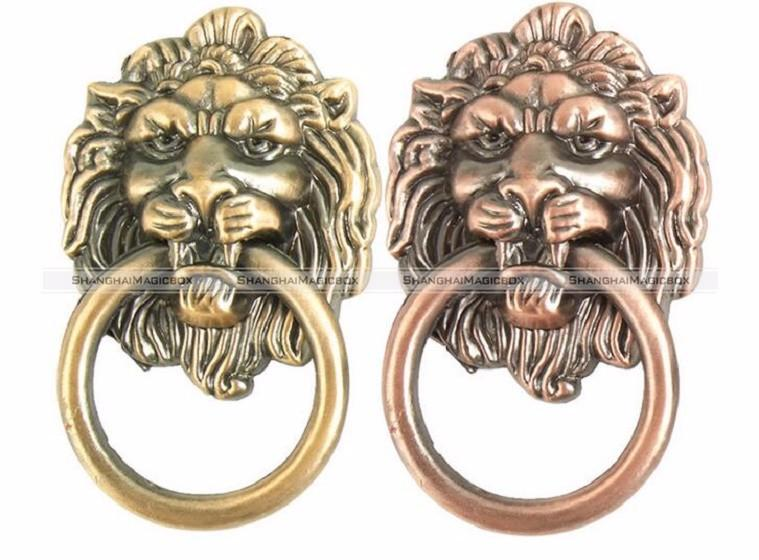 Wholesale- 6pcs Continental Vintage Lions Head Chest Drawers Bronze Pull Door Knobs Handles 43916821