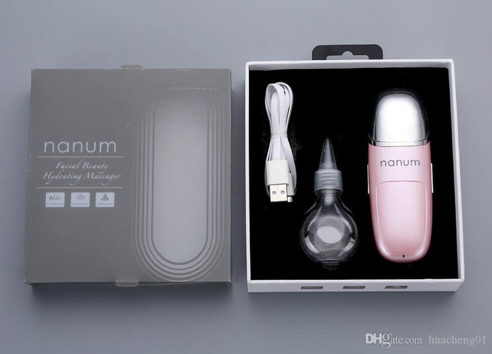 Beauty Hydrating Massager Portable Ultrasonic Natural Facial Steamer Moisturizer Face Beauty Instrument by DHL