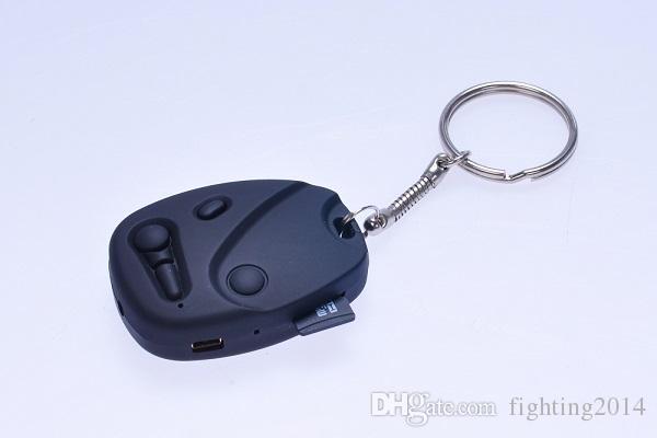 HD 720P car key camera with keychain DVR pinhole camera covert mini audio video recorder Security & Surveillance Mini DV black