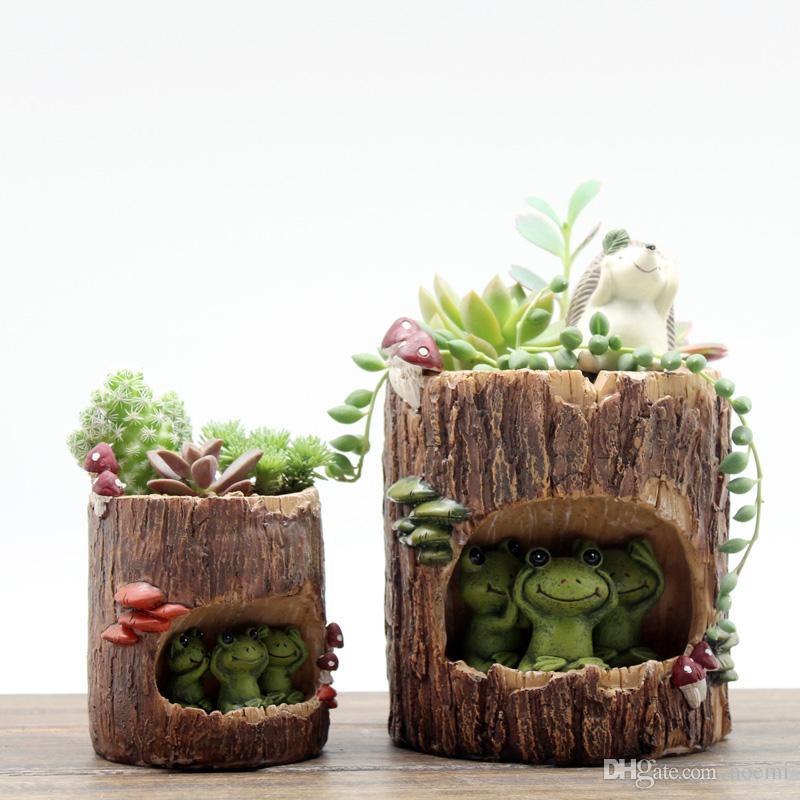 2018 Creative Tree House Resin Animals Flower Pots Succulent Plant Pots  Micro Landscape Fairy Garden Decoration Bonsai Planter From Noemi   14 07    Dhgate. 2018 Creative Tree House Resin Animals Flower Pots Succulent Plant