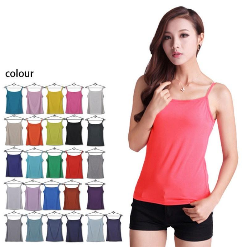 d10e401ad6cf6 2019 Solid Color Women Summer Tank Tops Ladies Sleeveless Basic T Shirt  Vest Tops From Winkiya