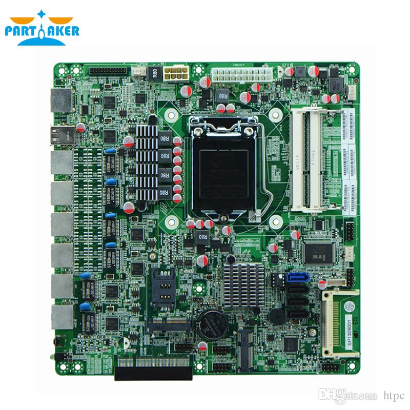 Partaker H67SL B75 LGA1155 socket Industrial Firewall motherboards with 6 lan For Router/Firewall Free Shipping