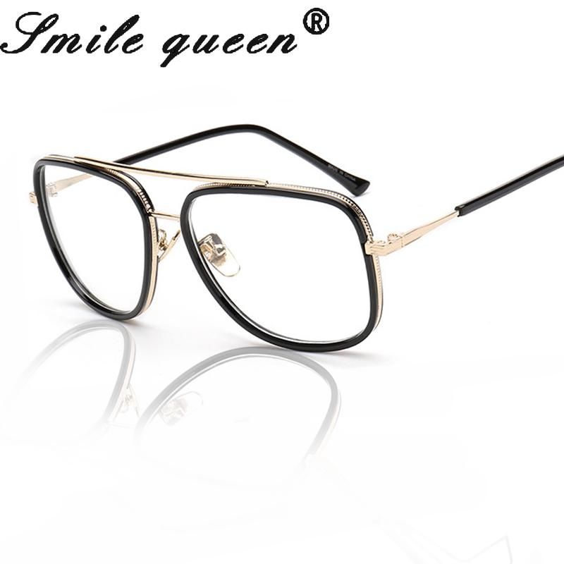 e7e1f06608 2019 Wholesale 2016 New Gold Metal Eyeglasses Brand Flat Oversize Square  Glasses Frame Optical Male Female Nerd Glasses Unisex Gafas Hombre From  Huteng, ...