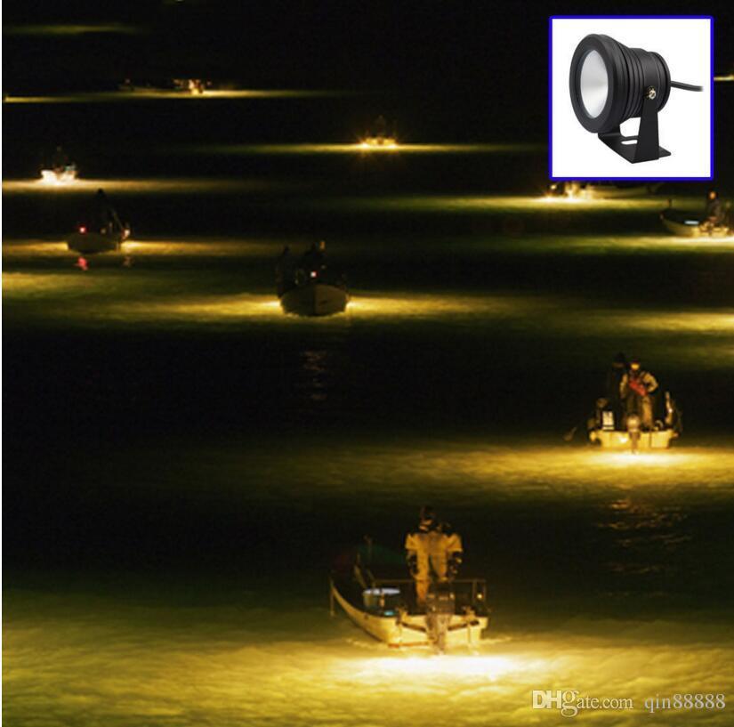 La lumière sous-marine menée imperméabilisent le projecteur 10W 12V RGB de fontaine d'étang de piscine blanc / RVB LED