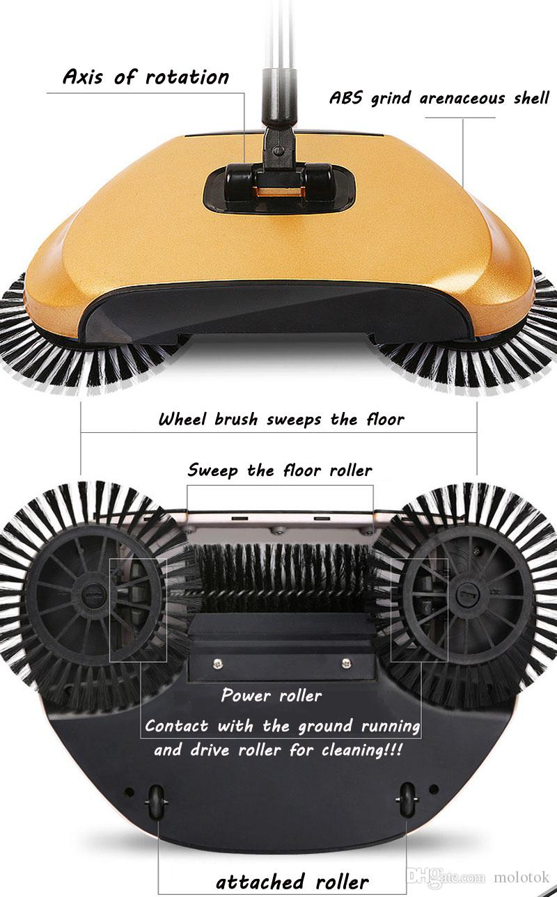 Máquina barredora de escobas Magic 360 sin electricidad Empuje el tipo de escobas para el hogar Barrendero Limpiador de polvo Artefacto Limpieza del hogar