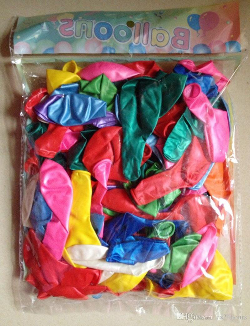 1.5g 핑크 진주 라텍스 풍선 9 색 풍선 결혼식 훈장 공 공 생일 파티 용품 풍선 도매