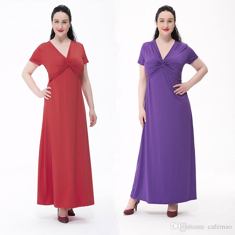 Fresh New Hot Selling European Summer Style Plus Size 6xl Long Dress