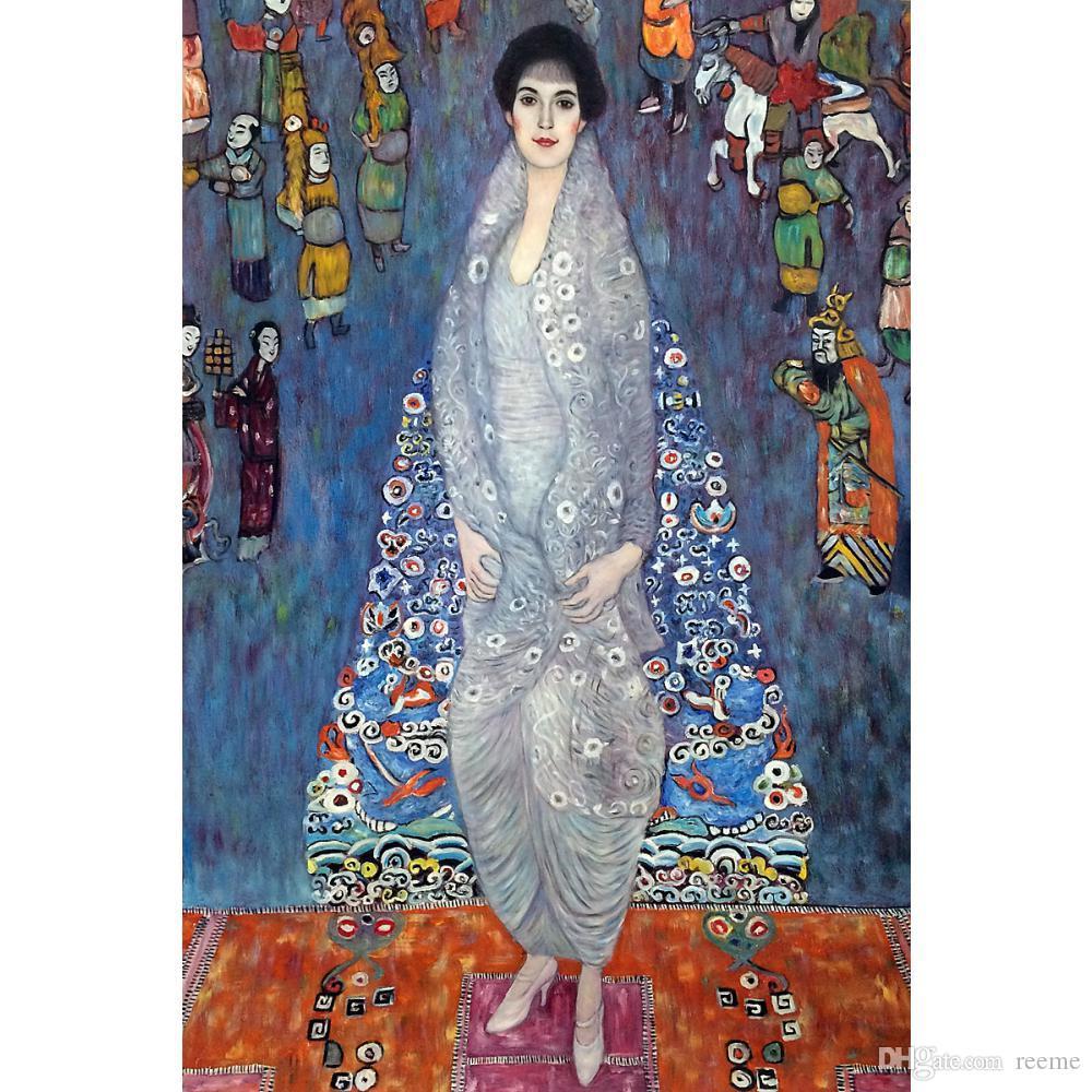 2019 Gustav Klimt Paintings Woman Portrait Of Baroness