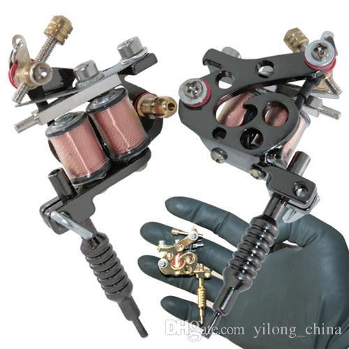 MINI Machine à tatouer pour porte-clés ou collier bobine en acier inoxydable Tatouages Body Art Gun Outil de maquillage