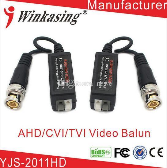 Nouvelle arrivée 2011HD haute qualité UTP AHD torsadé BNC CCTV émetteur vidéo balun