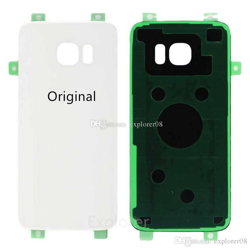 Battery Door Back Cover Glass Housing + Adhesive Sticker For Samsung Galaxy S7 G930 G930F G930T vs S7 edge G935 G935F G935T