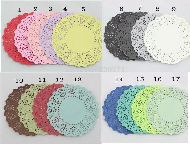 2018 Wholesale 45mixed Colors Lace Paper Doiliesplacemats For