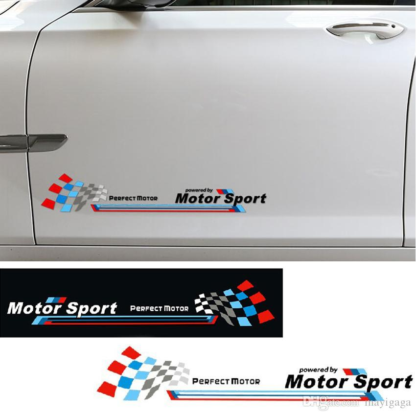 Powered By Motor Sport Door Sticker Racing Side Skirt Decal - Personalised car bmw x3 decals