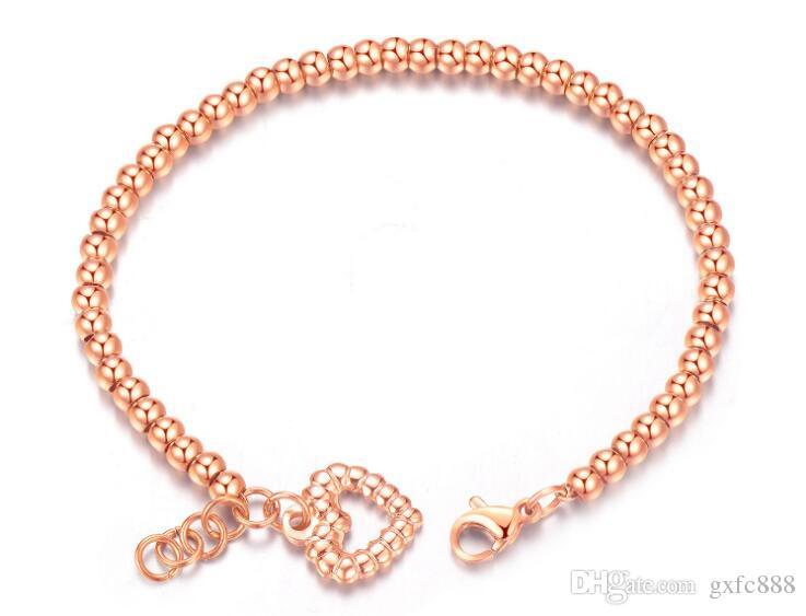 Moda gioielli amore placcatura elettrolitica bracciale in oro rosa bracciale in acciaio di titanio qualità signore