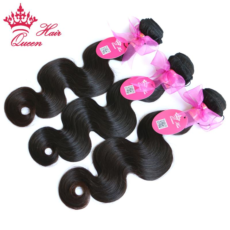 퀸 헤어 제품 100 % 브라질 처녀 인간의 머리카락 몸 파도 많이 DHL 무료 배송