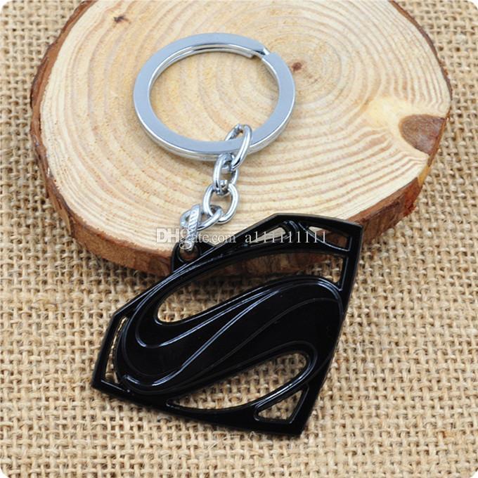 Hot Sale Superman Key Chain Alloy Key Ring New Arrival Superman Logo Fashion Keychain Gift Movie Jewelry