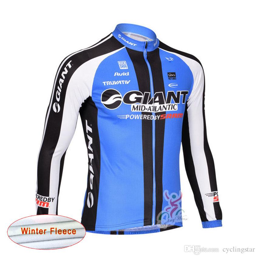 Acquista GIANT Team Winter Thermal Fleeced Cycling Jersey Mountain Bike  Ciclismo Abbigliamento Bicicletta Ciclo Abbigliamento Manica Lunga Giacca  Mtb A1604 ... 253694b59