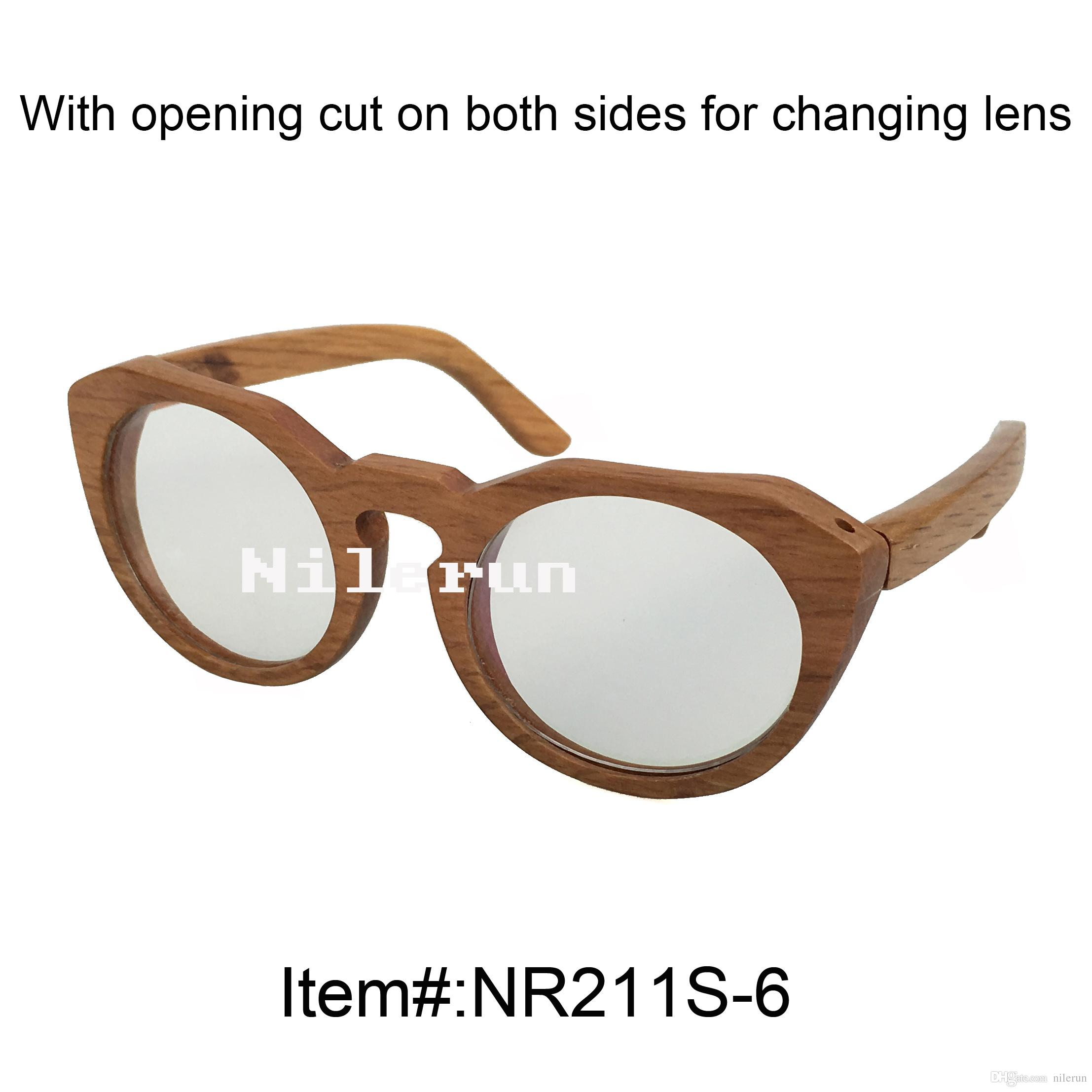 Round Handmade Wood Frame Optical Glasses Types Of Eyeglasses Frames ...