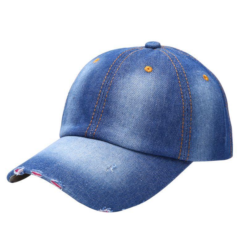 db36565f7a578 Wholesale- Vintage Men Women Sport Hat Casual Denim Baseball Ball ...