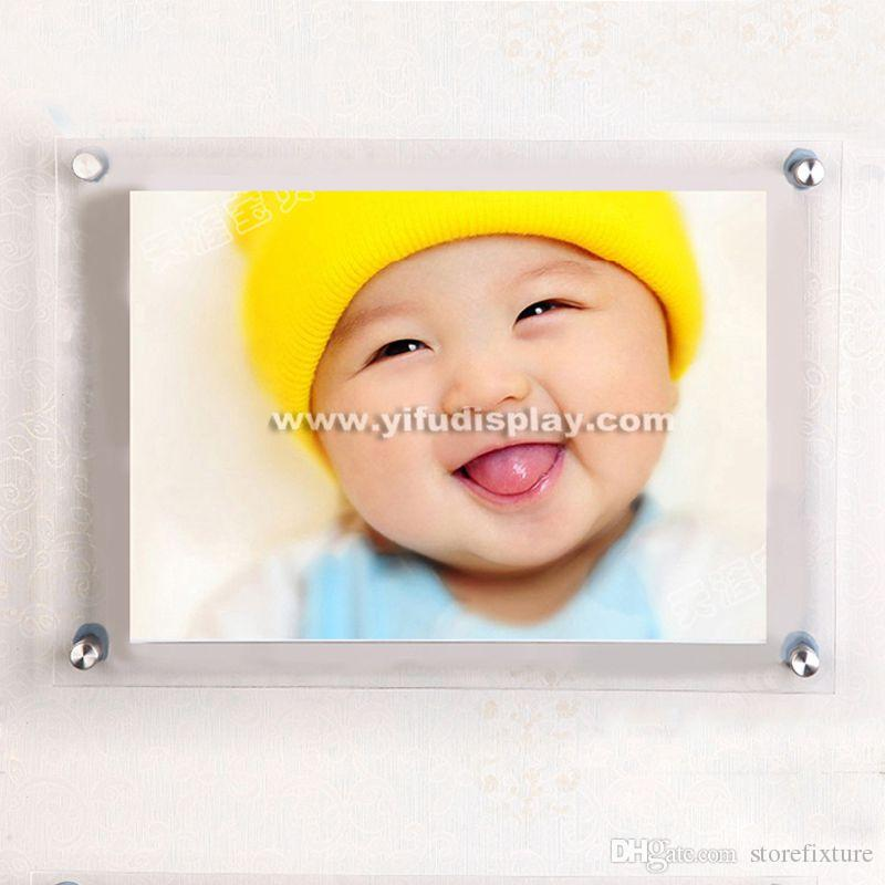 Acrylic Wall Mounted Poster Stand, Poster Display Stand Retail, wall mounted acrylic frame poster display stand
