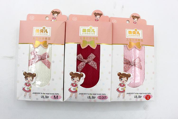 Wholesale girls tights baby leggings pants candy color toddler newborn baby sock with bow kids cute cotton socks 17-5