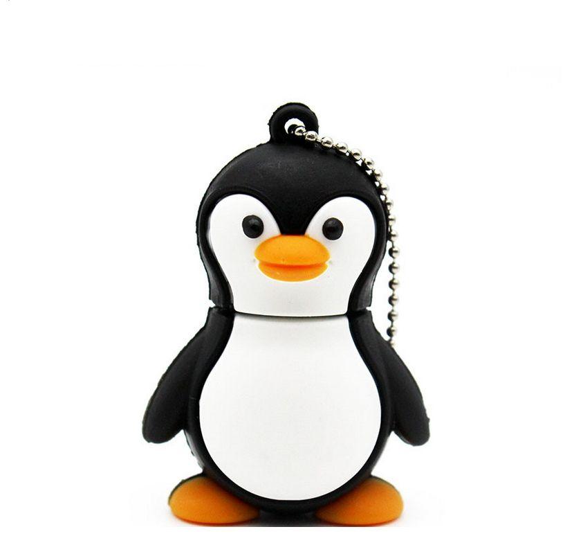 Genuine cartoon penguin USB Flash Drive U Disk USB Creativo Pendrive 4gb 8gb 16gb 32gb Memory Stick Real capacity