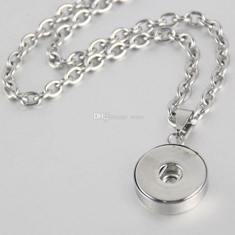 NOOSA Nosa Chunks Edelstahl Ingwer Druckknopf Halskette 18mm Druckknopf Schmuck für Frauen