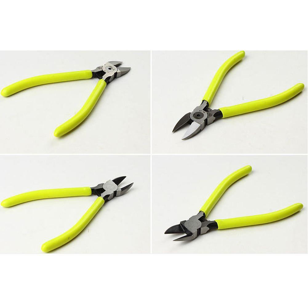 125mm 5 pulgadas de aleación de vanadio de cromo alicates de acero alicates Abrazadera de hardware alicates Nariz oblicua herramientas electrónicas de color amarillo