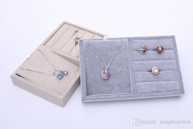 [Semplice Seven] Breve collana di biancheria in coreano display di alta qualità di ghiaccio velluto anelli vassoi orecchino casi braccialetto contenitore di gioielli