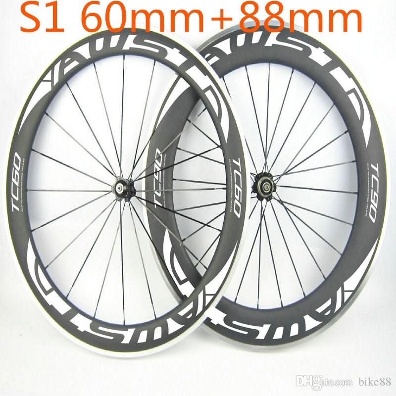 Cheap china carbon wheels clincher shiman 11s front 60mm rear 88mm alloy carbon wheels basalt surface wheels powerway hubs