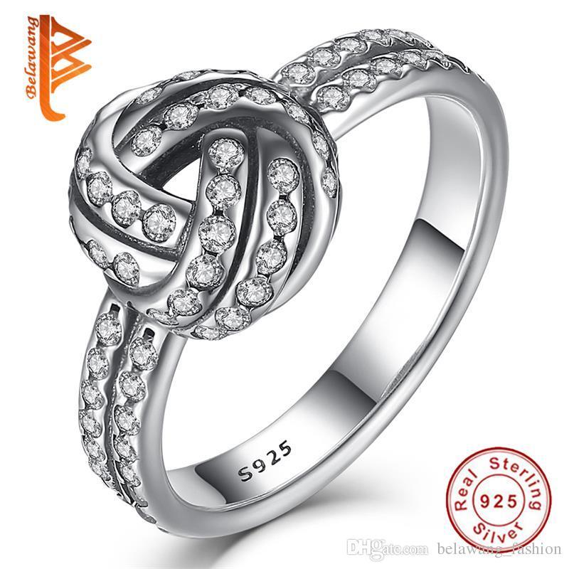 Verlobungsringe Romantische Weibliche Prinzessin Weiß Rot Blau Rosa Licht Blau Herz Ring 925 Sterling Silber Schmuck Versprechen Engagement Ring Für Frauen